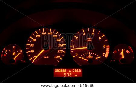 Tachometer Of A Car