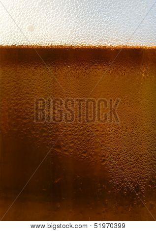 Fresh Dark Draft Beer Detail