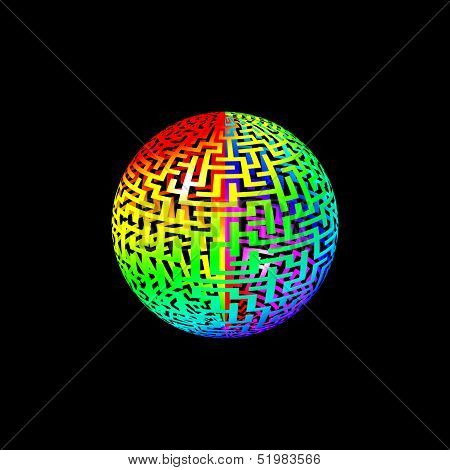Rainbow Maze Ball