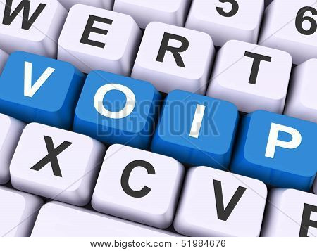 Voip Keys On Keyboard Show Voice Over Internet Protocol.
