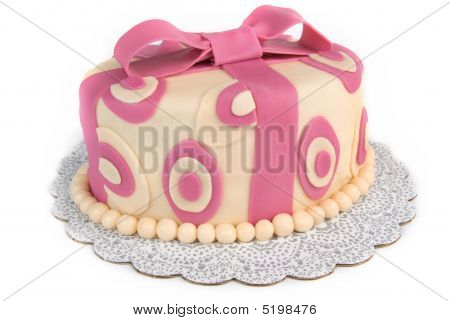 Polka Dot Ribbon Cake