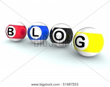 Blogging Word Shows Weblog Blog