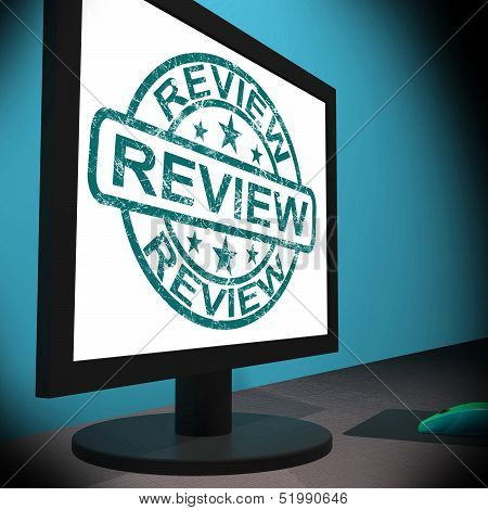 Review Screen Means Examine Reviewing Or Reassess