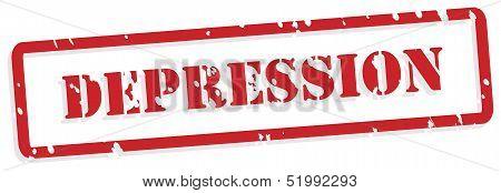 Depression Rubber Stamp