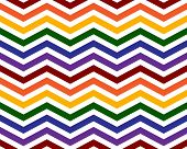 Gay Pride Colors in a Zigzag Pattern Background that is seamless and repeats poster