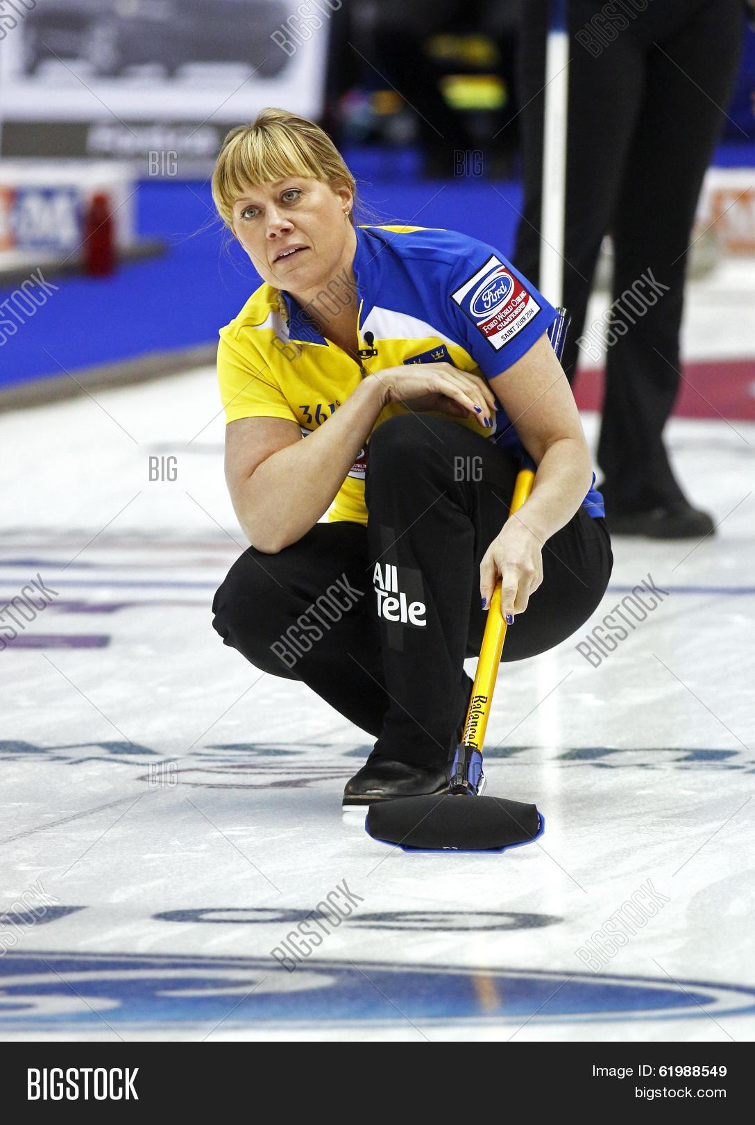 Curling Women Sweden Image Photo Free Trial Bigstock