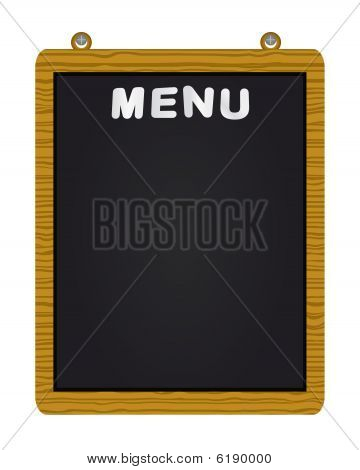Menu on blackboard