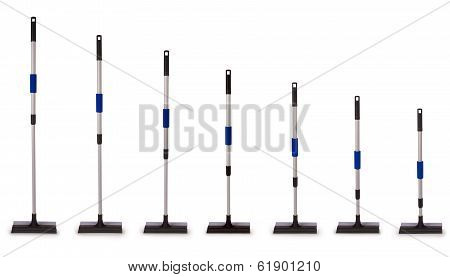 Window Washing Brush. Squeegee For Glass (seven Clipping Path)