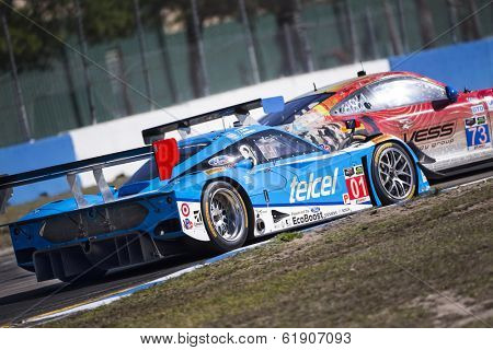Sebring, FL - Mar 14, 2014:  The Chip Ganassi Racing Telcel Riley DP takes to the track for a practice session for the 12 Hours of Sebring at Sebring International Raceway in Sebring, FL.