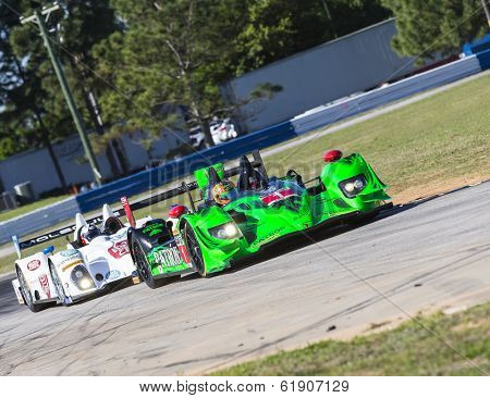 Sebring, FL - Mar 13, 2014:  The Extreme Speed Motorsports HPD ARX-03b takes to the track for a practice session for the 12 Hours of Sebring at Sebring International Raceway in Sebring, FL.