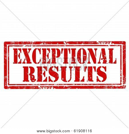 Exceptional Results-stamp
