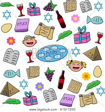 Passover Holiday Symbols Pack