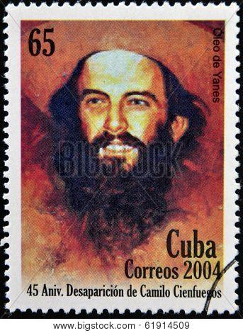 CUBA - CIRCA 2004: A Stamp printed in Cuba shows Comandante Camilo Cienfuegos