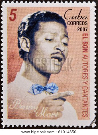 CUBA - CIRCA 2007: A stamp printed in cuba shows Benny More
