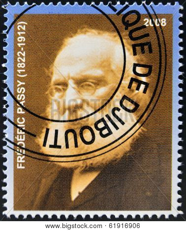 DJIBOUTI - CIRCA 2008: stamp printed in Djibouti shows Frederic Passy