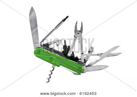 Green Swiss Penknife