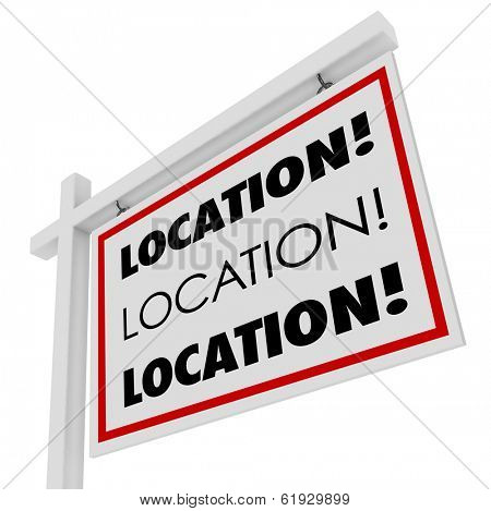 Location Words Real Estate For Sale Sign Best Home