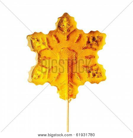 Sugar Snowflake On A Stick.