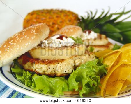 Pineapple Hamburger