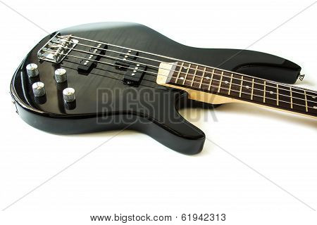 Electric guitar isolate on white background