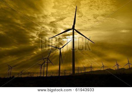 Wind Turbine Silhouettes