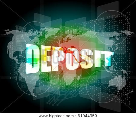 Touch Screen Interface With Deposit Word