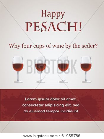 Happy passover - 4 cups of wine for Seder