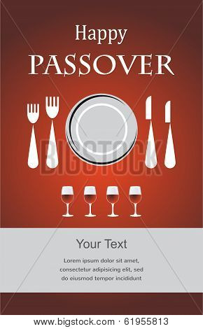 Jewish Passover holiday Seder invitation