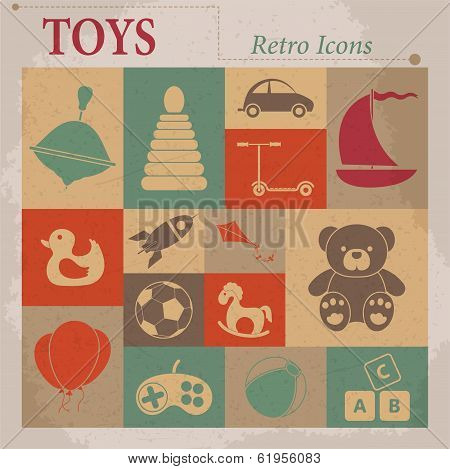Toys Vector Flat Icons
