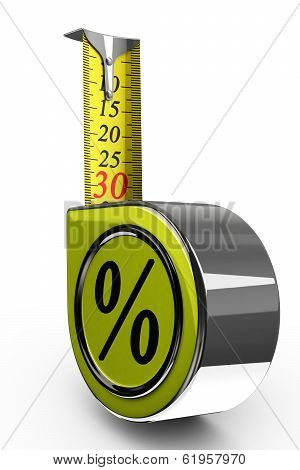 30% discount, measure tape shows thirty percent off.
