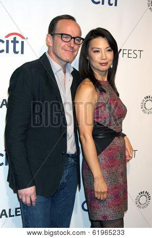 LOS ANGELES - MAR 23:  Clark Gregg, Ming-Na Wen at the PaleyFEST 2014 -