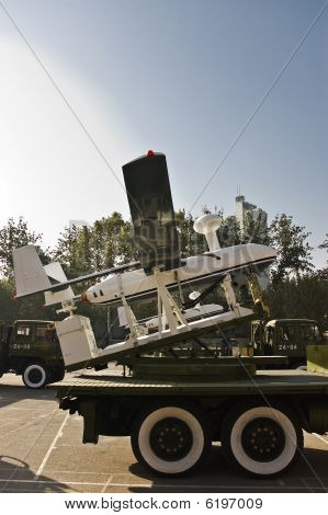Chinese Unmanned Aerial Vehicle (uav) Mounted On A Military Truc