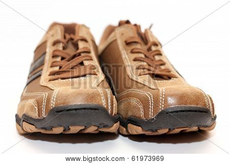 Male shoes over white background