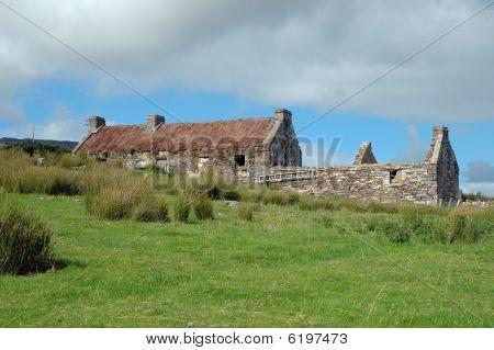 Old Irish Cottage Ruin