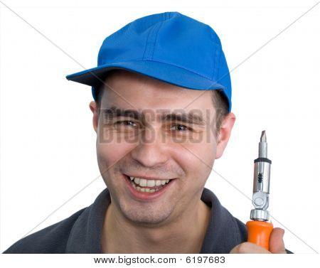 Smiling Workman