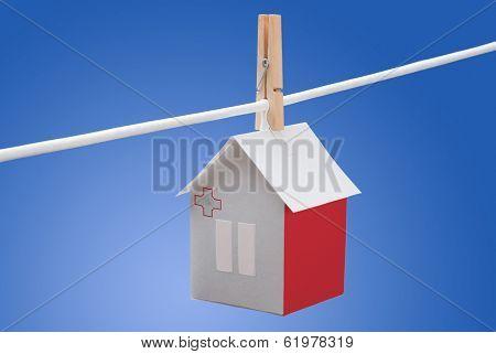 Malta, Maltese flag on paper house