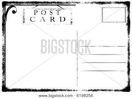 Blank old grunge postcard vector illustration