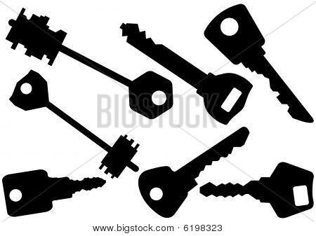 Set of keys vector illustration