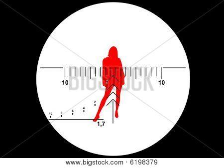 Sniper rifle sight vector illustration
