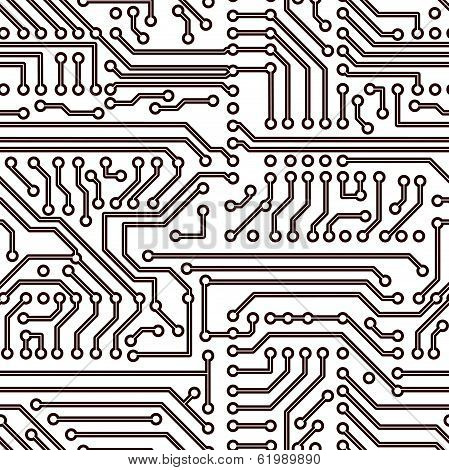 Vector seamless circuit board pattern
