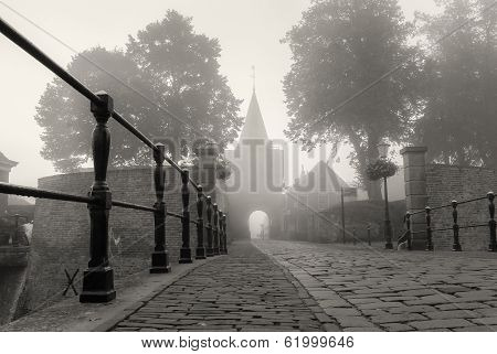 Access Road Through The Gate To The Fortress Town, Elburg,