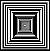 Perspective illusion- One point perspective of interior poster