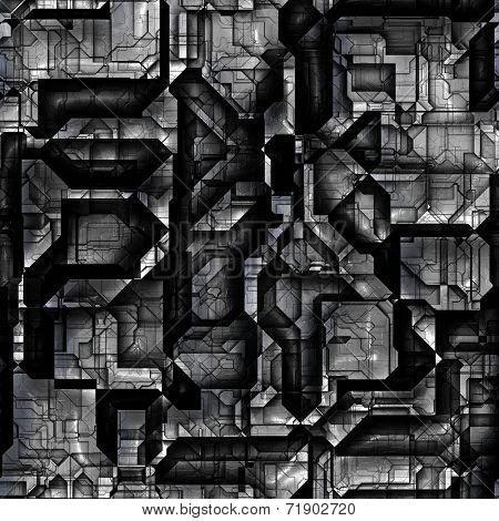 Seamless background for robots and cyborgs