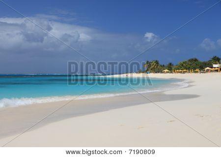Deserted clean sandy beach