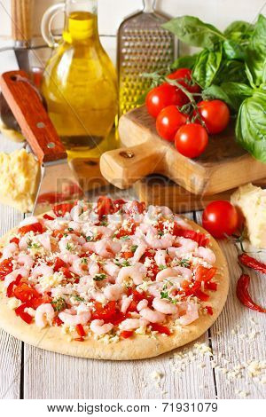 Shrimp Pizza.