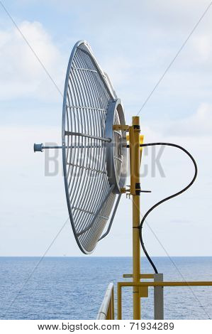 Satellite dish for communication in offshore,A radio telescope is a form of directional radio antenn