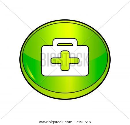 First Aid Kit Button