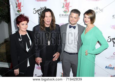 LOS ANGELES - SEP 13:  Sharon Osbourne, Ozzy Osbourne, Jack Osbourne, Lisa Osbourne at the 2014 Brent Shapiro Foundation Evemt at a Private Residence on September 13, 2014 in Beverly Hills, CA