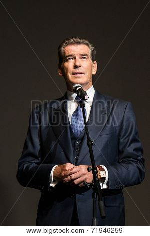 MOSCOW, RUSSIA, September, 10: Actor Pierce Brosnan. Premiere of the movie