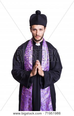Humble Christian priest
